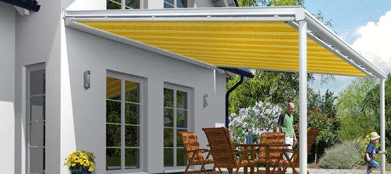 Beschattungssysteme / Sonnenschutz sind die perfekte Ergänzung für Ihr Terrassendach!  mehr